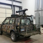 1997 Geo Tracker with Custom Fabricated crane