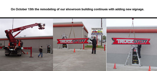 The remodeling of our showroom building continues with adding new signage. Check back, new awnings and parking lot art are still to come!
