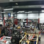Inside the showroom of Truck Stuff, located in Wichita, KS.