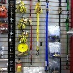 Tie-Downs and cargo parts on display in our Showroom
